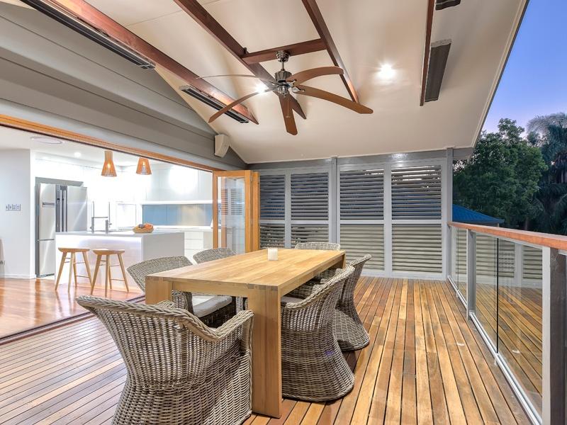 aluminium shutters on a deck